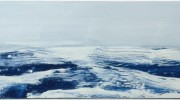 wild blue sea, 156x61cm, oil on board