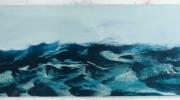 Sea i, 61x156cm, oil on board