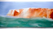 Splash point i - Seaford, 74x156cm, oil on board